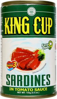 King Cup Sardines in Tomato Sauce | 155g