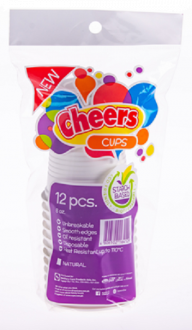 Cheers Cups Starch Base 8oz | 12pcs