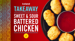 Iceland Takeaway Sweet & Sour Battered Chicken | 228g