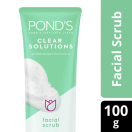 POND_S CLEAR SOLUTIONS FACIAL WASH ANTI-BACTERIAL 100G
