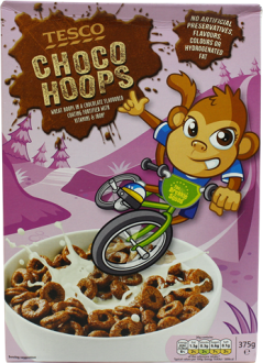 Tesco Chocohoops Cereal | 375g