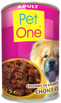 Pet One Dog Food Adult Beef Stew Choice Cut in can | 400g