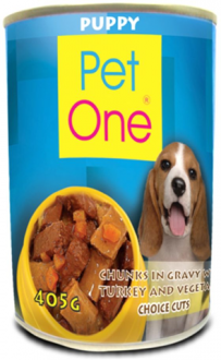 Pet One Dog Food Puppy Beef Stew Choice Cut in can | 400g