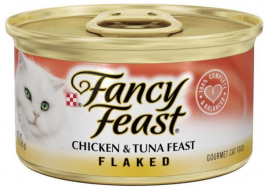 Fancy Feast Cat Food Chicken and Tuna Flaked in Can | 85g